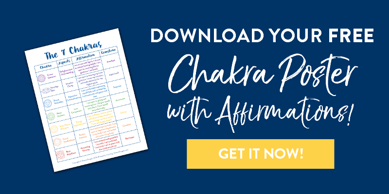 FREE Chakra Poster with Affirmations